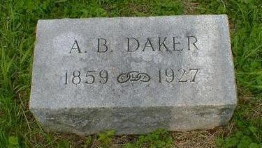 DAKER, A. B. - Cerro Gordo County, Iowa   A. B. DAKER