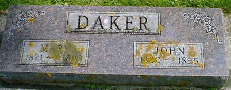 DAKER, JOHN - Cerro Gordo County, Iowa | JOHN DAKER