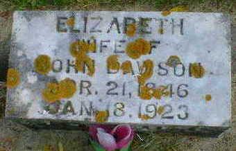 DAWSON, ELIZABETH - Cerro Gordo County, Iowa   ELIZABETH DAWSON