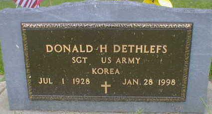 DETHLEFS, DONALD H. - Cerro Gordo County, Iowa | DONALD H. DETHLEFS