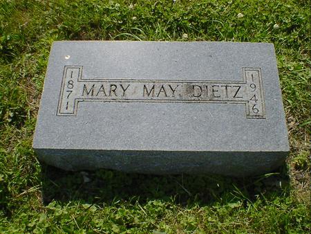 DIETZ, MARY MAY - Cerro Gordo County, Iowa | MARY MAY DIETZ