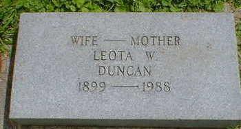 DUNCAN, LEOTA W. - Cerro Gordo County, Iowa | LEOTA W. DUNCAN
