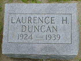 DUNCAN, LAURENCE H. - Cerro Gordo County, Iowa | LAURENCE H. DUNCAN