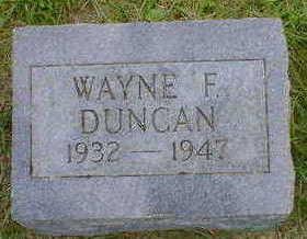 DUNCAN, WAYNE F. - Cerro Gordo County, Iowa | WAYNE F. DUNCAN