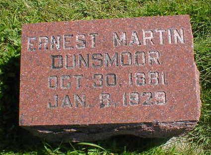 DUNSMOOR, ERNEST MARTIN - Cerro Gordo County, Iowa   ERNEST MARTIN DUNSMOOR