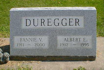 DUREGGER, FANNIE V. - Cerro Gordo County, Iowa | FANNIE V. DUREGGER