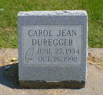 DUREGGER, CAROL JEAN - Cerro Gordo County, Iowa | CAROL JEAN DUREGGER