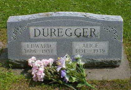 DUREGGER, ALICE - Cerro Gordo County, Iowa | ALICE DUREGGER