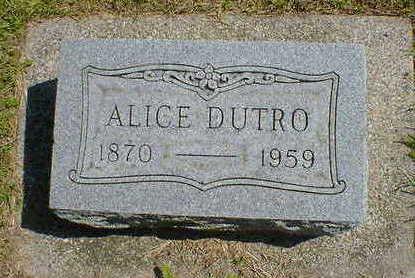 DUTRO, ALICE - Cerro Gordo County, Iowa | ALICE DUTRO