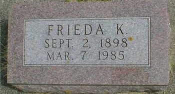 DYE, FRIEDA K. - Cerro Gordo County, Iowa   FRIEDA K. DYE