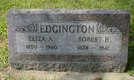 EDGINGTON, ELIZA A. - Cerro Gordo County, Iowa | ELIZA A. EDGINGTON