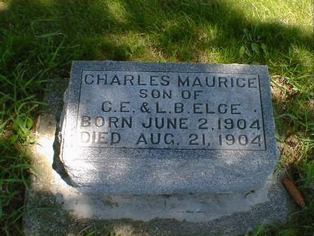 ELCE, CHARLES MAURICE - Cerro Gordo County, Iowa | CHARLES MAURICE ELCE