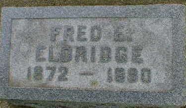 ELDRIDGE, FRED E. - Cerro Gordo County, Iowa | FRED E. ELDRIDGE