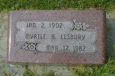 ELSBURY, MYRTLE A. - Cerro Gordo County, Iowa   MYRTLE A. ELSBURY