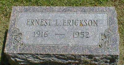 ERICKSON, ERNEST L. - Cerro Gordo County, Iowa | ERNEST L. ERICKSON