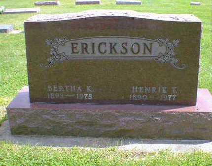 ERICKSON, HENRIK T. - Cerro Gordo County, Iowa | HENRIK T. ERICKSON