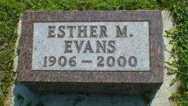 EVANS, ESTHER M. - Cerro Gordo County, Iowa | ESTHER M. EVANS