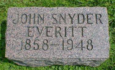 EVERITT, JOHN SNYDER - Cerro Gordo County, Iowa | JOHN SNYDER EVERITT