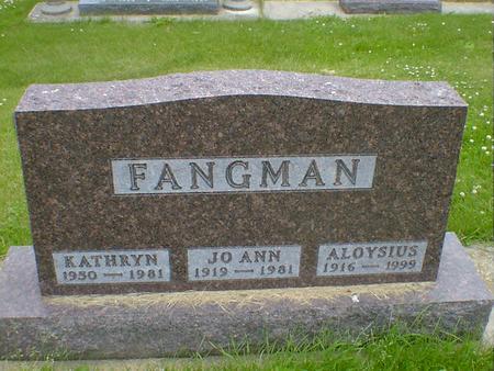 FANGMAN, ALOYSIUS - Cerro Gordo County, Iowa | ALOYSIUS FANGMAN