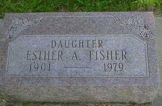FISHER, ESTHER A. - Cerro Gordo County, Iowa | ESTHER A. FISHER