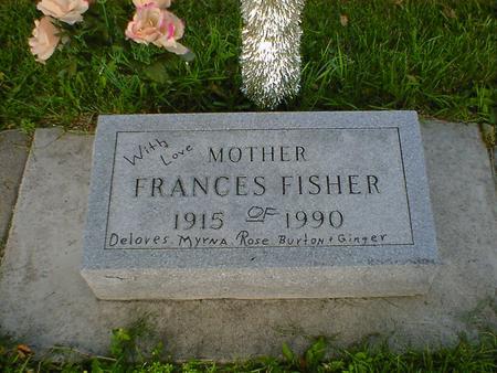 FISHER, FRANCES - Cerro Gordo County, Iowa   FRANCES FISHER