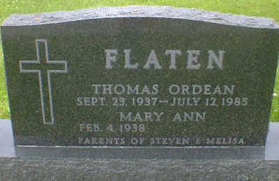 FLATEN, THOMAS ORDEAN - Cerro Gordo County, Iowa   THOMAS ORDEAN FLATEN