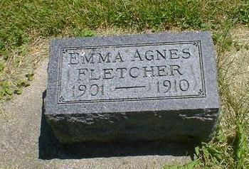 FLETCHER, EMMA AGNES - Cerro Gordo County, Iowa   EMMA AGNES FLETCHER