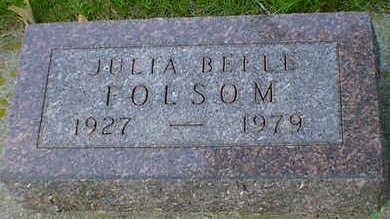 FOLSOM, JULIA - Cerro Gordo County, Iowa   JULIA FOLSOM