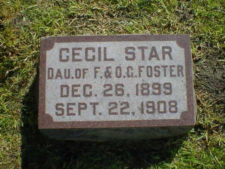 FOSTER, CECIL STAR - Cerro Gordo County, Iowa | CECIL STAR FOSTER
