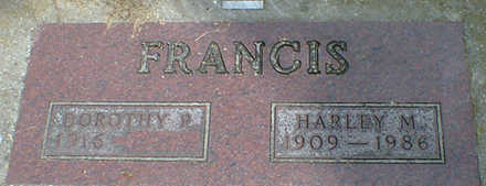 FRANCIS, HARLEY M. - Cerro Gordo County, Iowa | HARLEY M. FRANCIS
