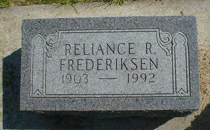 FREDERIKSEN, RELIANCE R. - Cerro Gordo County, Iowa   RELIANCE R. FREDERIKSEN