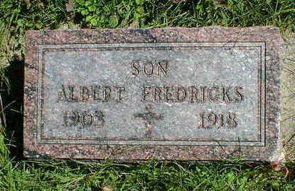 FREDRICKS, ALBERT - Cerro Gordo County, Iowa | ALBERT FREDRICKS