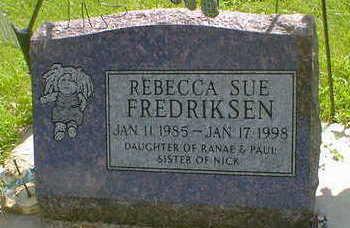 FREDRICKSEN, REBECCA SUE - Cerro Gordo County, Iowa | REBECCA SUE FREDRICKSEN