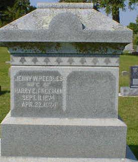 PEEBLES FREEMAN, JENNY W. - Cerro Gordo County, Iowa   JENNY W. PEEBLES FREEMAN