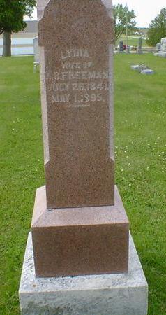 FREEMAN, LYDIA - Cerro Gordo County, Iowa   LYDIA FREEMAN