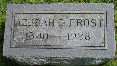 FROST, AZUBAH (DUNCAN) - Cerro Gordo County, Iowa | AZUBAH (DUNCAN) FROST