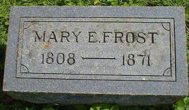 FROST, MARY E. - Cerro Gordo County, Iowa | MARY E. FROST