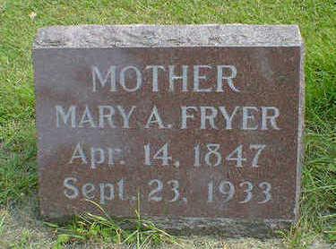 FRYER, MARY A. - Cerro Gordo County, Iowa   MARY A. FRYER