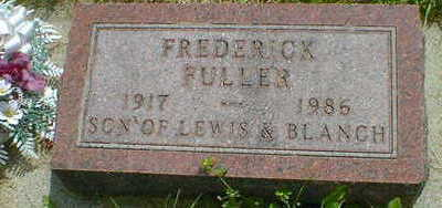 FULLER, FREDERICK - Cerro Gordo County, Iowa   FREDERICK FULLER