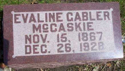 NEIL GABLER MCCASKIE, EVALINE - Cerro Gordo County, Iowa | EVALINE NEIL GABLER MCCASKIE
