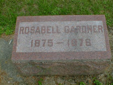 GARDNER, ROSABELL - Cerro Gordo County, Iowa | ROSABELL GARDNER
