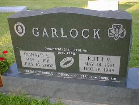 GARLOCK, DONALD E. - Cerro Gordo County, Iowa | DONALD E. GARLOCK