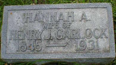 GARLOCK, HANNAH A. - Cerro Gordo County, Iowa | HANNAH A. GARLOCK