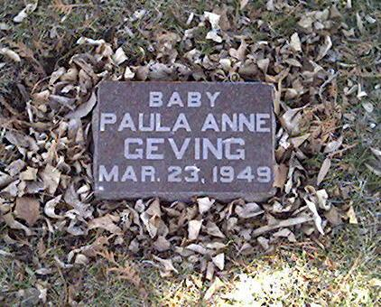 GEVING, PAULA ANNE - Cerro Gordo County, Iowa | PAULA ANNE GEVING