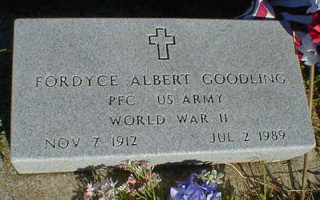 GOODLING, FORDYCE ALBERT - Cerro Gordo County, Iowa   FORDYCE ALBERT GOODLING