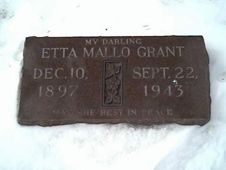 GRANT, ETTA - Cerro Gordo County, Iowa | ETTA GRANT