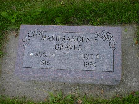 GRAVES, MARIFRANCES B. - Cerro Gordo County, Iowa   MARIFRANCES B. GRAVES