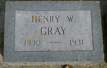 GRAY, HENRY W. - Cerro Gordo County, Iowa   HENRY W. GRAY