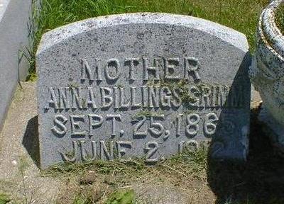 BILLINGS GRIMM, ANNA - Cerro Gordo County, Iowa | ANNA BILLINGS GRIMM