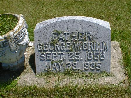 GRIMM, GEORGE W. - Cerro Gordo County, Iowa | GEORGE W. GRIMM